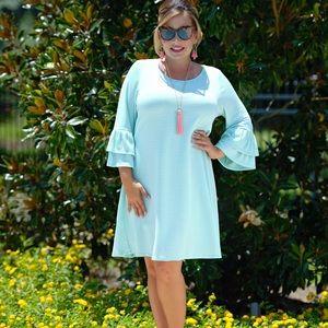 NWT Perfectly Priscilla Mint Dress - Plus 1X